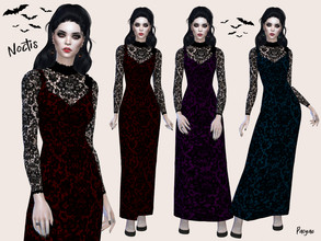 Sims 4 — Noctis by Paogae — A dress for the creatures of the night, vampires, witches ... or just to use on Halloween