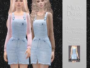 Sims 4 — Miley Dress by Dissia — Miley Dress 15 swatches Hope you like it ;)