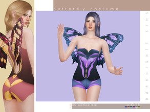 Sims 4 — Butterfly Costume by DarkNighTt — Butterfly Costume Have 6 colors. New Mesh. Fully handpainted texture. HQ mod