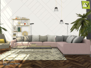 Sims 4 — Yuba Living Room by ArtVitalex — - Yuba Living Room - ArtVitalex@TSR, Oct 2020 - All objects three has a
