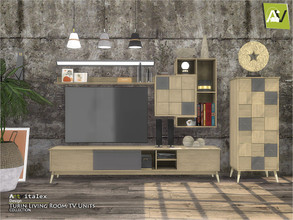 Sims 4 — Turin Living Room TV Units by ArtVitalex — - Turin Living Room TV Units - ArtVitalex@TSR, Oct 2020 - All objects