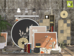 Sims 4 — Zwickau Living Room Accessories by ArtVitalex — - Zwickau Living Room Accessories - ArtVitalex@TSR, Oct 2020 -