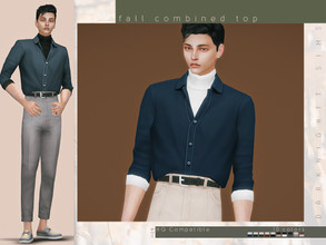 Sims 4 — Fall Combined Top by DarkNighTt — Fall Combined Top Have 10 colors. Edited EA Mesh. HQ mod compatible. Hope you