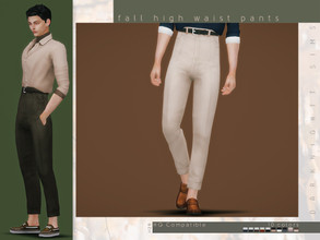 Sims 4 — Fall Hight Waist Pants by DarkNighTt — Fall Hight Waist Pants Have 10 colors. Edited EA Mesh. HQ mod compatible.