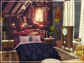 Sims 4 — Autumn leaf - bedroom by Danuta720 — $14035 6x7 CC's needed for this Room - Read in the Required.