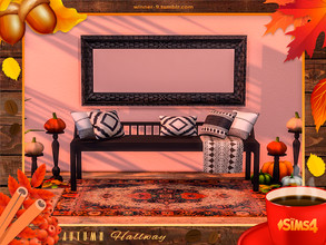 Sims 4 — Autumn hallway by Winner9 — This hallway set will give you warmth in a rainy day and will bring you joy and