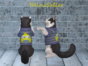 Sims 4 — Lil Monster Cat Sweater by yellowsailor4382 — This sweater is fit for even the stinkiest monsters! A sweet lil