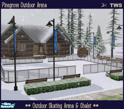 Sims 2 — Pinegrove Outdoor Arena by wildstar24 — The perfect place to spend a snowy winter day - skate at the outdoor