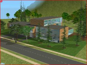 Sims 2 — 10922 Orlando Drive by Anakin_Stupaine — Modern home with large windows all around. 2 double bedrooms and one