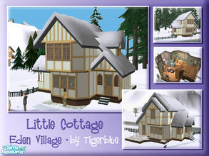 Sims 2 — Eden Village - Little Cottage by Tigerblue — A cosy starter suitable for a small family. Contains all skill