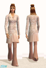Sims 2 — Long Coat and Slacks- Tan/Creme by RockinRobin — For some reason, the outfit blurs when I pause the game to take