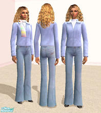 Sims 2 — Leather Coat in Baby Blue by RockinRobin — Pastel leathers are a stylish way to brighten any winter day. This is