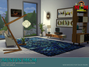 Sims 4 — Austin MCM Set by Padre — A set of retro mid century inspired furniture items for The Sims 4 New meshes made by