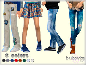 Sims 4 — Boots  Child by bukovka — Shoes for children of both sexes. Suitable for base game, new mesh is mine, included.