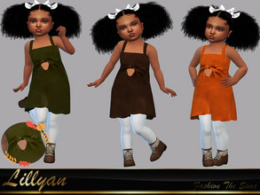 Sims 4 — Dress Melissa baby by LYLLYAN — Dress in 5 colors . You must own the latest toddler stuff pack to be able to see