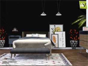 Sims 3 — Milla Bedroom by ArtVitalex — - Milla Bedroom - ArtVitalex@TSR, Oct 2020 - All objects are recolorable - Milla