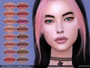 Sims 4 — Lip gloss-Fruit Flavored Crystal by ANGISSI — Previews made with HQ mod For all questions go here ----