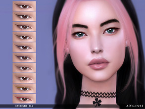 Sims 4 — Eyeliner-Lia by ANGISSI — Previews made with HQ mod -10 colors -HQ compatible -female/from child to elder