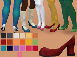 Retro 50s To 80s Sims 4 Shoes Female