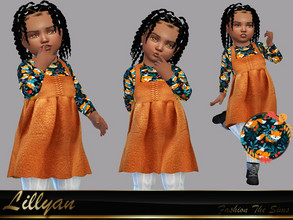 Sims 4 — Dress Anny baby by LYLLYAN — Dress in 1 model. You must own the latest toddler stuff pack to be able to see this