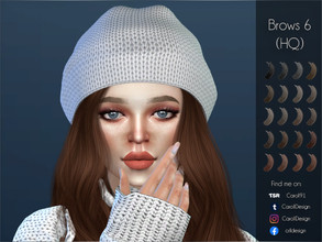 Sims 4 — Brows 6 (HQ) by Caroll912 — - A detailed, light gradient eyebrow texture - 20 recolours total - from blacks,