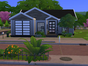 Sims 4 — Mansfield (No CC) by Arisd — Mansfield, 2 bedrooms and 2 bathrooms, build in Willow Creek 30x20.