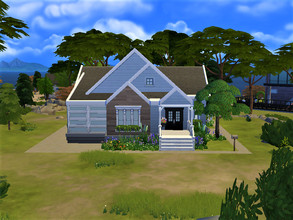Sims 4 — Monet (No CC) by Arisd — Small cute house, 2 bedrooms and 1 bathroom. Build in Windenburg 20x20.43088