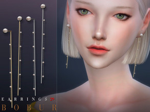 Sims 4 — Bobur Earrings 29 by Bobur2 — Pearl Earrings 4 colors HQ I hope you like it