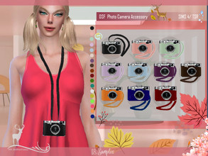 Sims 4 — DSF  Photo Camera Accessory by DanSimsFantasy — Photographic camera. You have 18 samples. Location: necklace