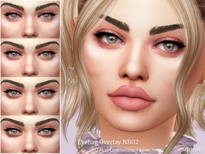 Sims 4 — Eyebags Overlay NB02 by MSQSIMS — - Base Game - 4 Swatches / Light to Dark - Female / Male - Toddler - Elder -