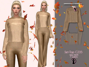 Sims 4 — Set-Top C235 by turksimmer — 7 Swatches Compatible with HQ mod Works with all of skins Custom Thumbnail New Mesh