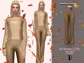 Sims 4 — Set-Bottom C236 by turksimmer — 7 Swatches Compatible with HQ mod Works with all of skins Custom Thumbnail New