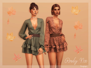 Sims 4 — Dress (Fall Collection) - DR365 by laupipi2 — New super cute autumn dress! New mesh, all LODs Base game