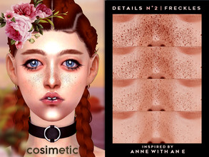 Sims 4 — COSIMETIC Details N2 - Freckles - Inspired by AWAE by cosimetic — - This content can use on all genders and from