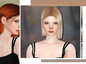 Sims 4 — Brienne Hairstyle by DarkNighTt — Brienne Hairstyle 30 colors New texture New mesh Compatible with hats Smooth