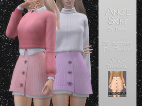 Sims 4 — Angie Skirt by Dissia — Angie Skirt 22 swatches Hope you like it ;)
