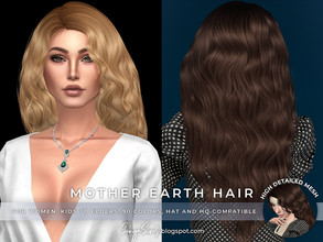 Sims 4 — SonyaSims Mother Earth Hair by SonyaSimsCC — - Long wavy hair for your sims. Hope you like it. - For women.