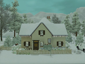Sims 3 — Hidden spring cottage no cc by sgK452 —  for a family of 4, girls bedroom with 2 beds, parent bedroom, drawing