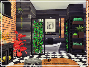 Sims 4 — Autum Leaf-bathroom by Danuta720 — Price:17723 Size: 6x7 The room was built on medium walls. CC's needed for