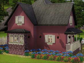 Sims 3 — Cottage base game no CC by sgK452 — Charming family house you just need to have the sims 3 pack no other