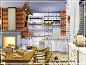 Sims 4 — Autum Leaf-kitchen by Danuta720 — Price:14161 size: 11x9 CC's needed for this Room - Read in the Required.