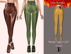 Sims 4 — Metalic Tights C237 by turksimmer — 10 Swatches Compatible with HQ mod Works with all of skins Custom Thumbnail