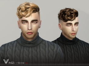 Sims 4 — WINGS-TZ1110 by wingssims — Colors:20 All lods Compatible hats Hope you like it!