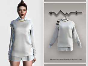 Sims 4 — Shirt Knit Vest Dress BD356 by busra-tr — 10 colors Adult-Elder-Teen-Young Adult For Female Custom thumbnail