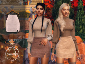 Sims 4 — Camuflaje - Betty Set (Skirt) by Camuflaje — ** Part of the set ** * New mesh * Compatible with the base game *