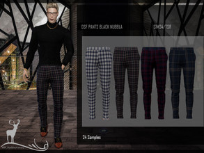 Sims 4 — DSF PANTS BLACK NUBBLA by DanSimsFantasy — Casual pants to wear with low-cut shoes. Ideal for various occasions.
