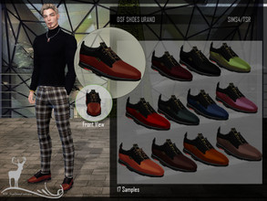 Sims 4 —  DSF SHOES URANO by DanSimsFantasy — Low cut shoes with rubber soles, to be comfortable and presentable on