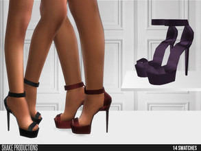 Sims 4 — ShakeProductions 555 - High Heels by ShakeProductions — Shoes/ Heels New Mesh All LODs Handpainted 21 Colors