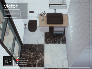 Sims 4 — Victor Marble Floor - Networksims by networksims — A tiled marble floor in 2 colour swatches.