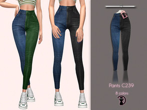 Sims 4 — Pants C239 by turksimmer — 8 Swatches Compatible with HQ mod Works with all of skins Custom Thumbnail Teen to